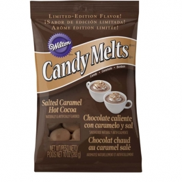 Candy Melts sabor Chocolate Caliente con Caramelo Salado