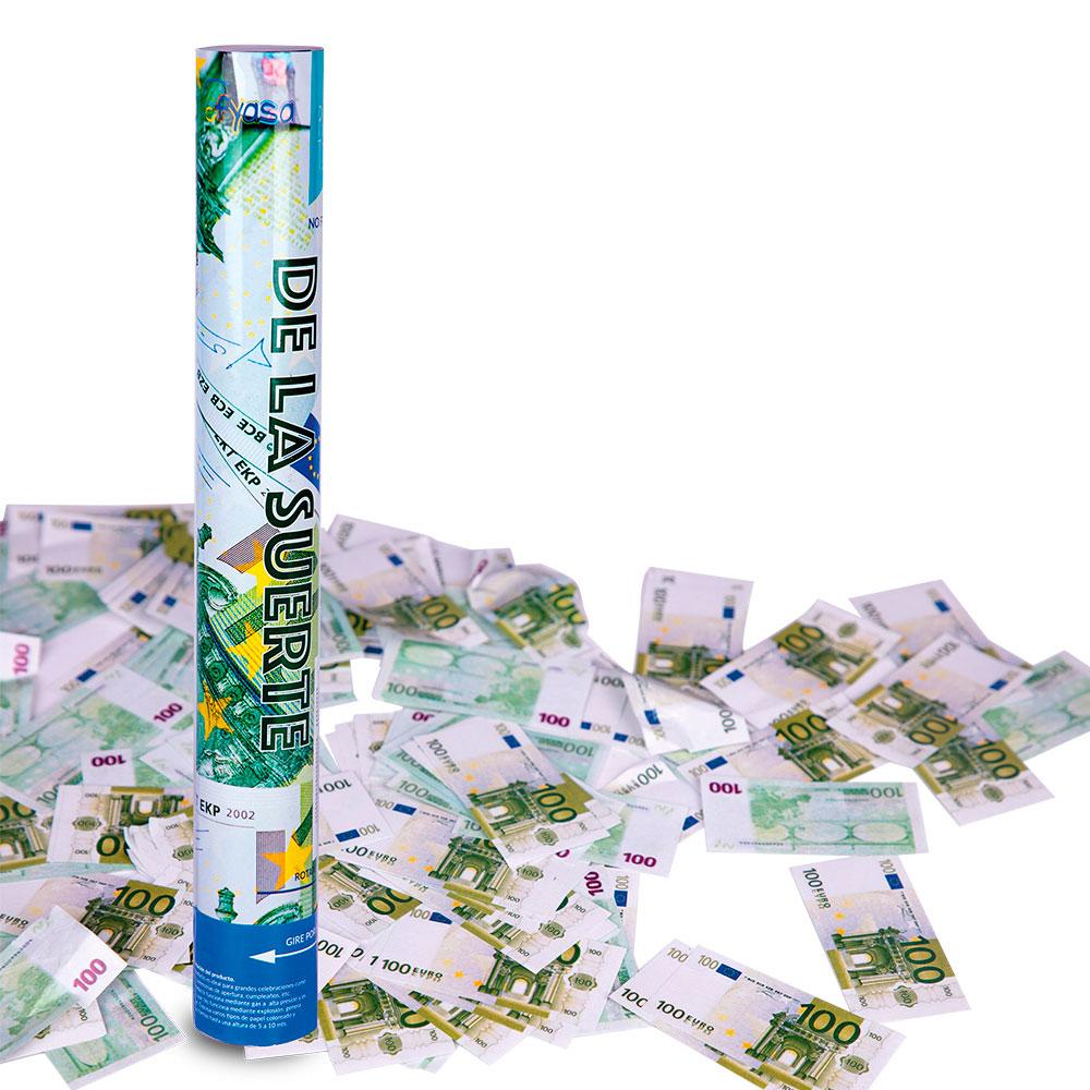 Cañón Confeti de Euros 40 cm