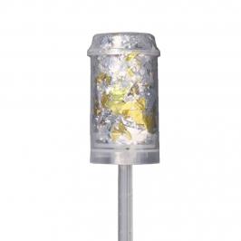 Push Up de confetti dorado y plateado 13 cm alto