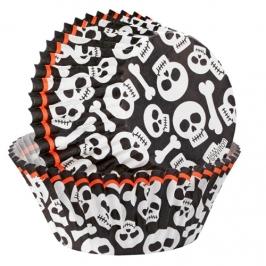 Cápsulas para cupcakes Calaveras y Huesos