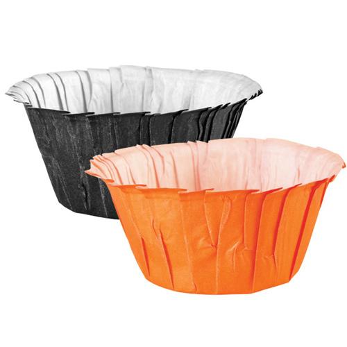 Cápsulas con Volantes Negras y Naranjas