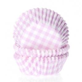 Cápsulas cupcakes Gingham Pink