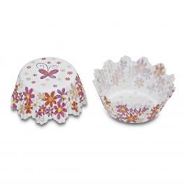 Cápsulas para hornear diseño flores de colores (100 uds)