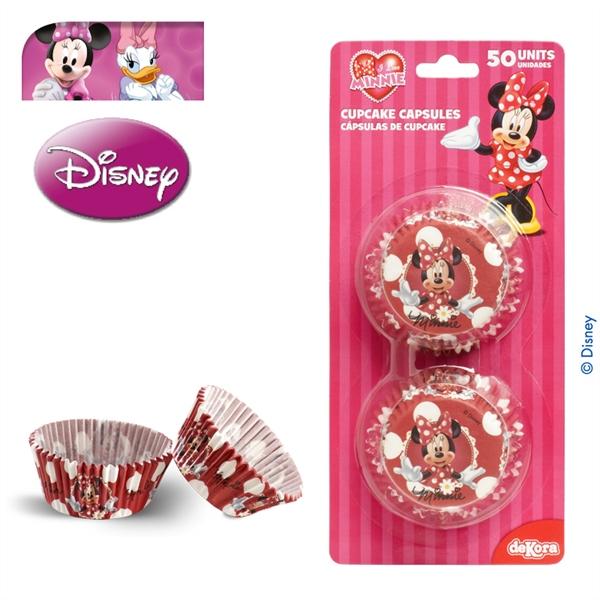Juego de 50 cápsulas para cupcakes de Minnie