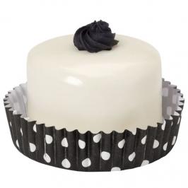 Cápsulas para dulces Negras con lunares blancos