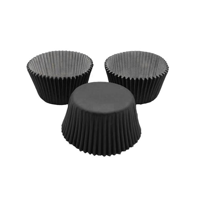 Cápsulas para Cupcakes Negras 24 Unidades