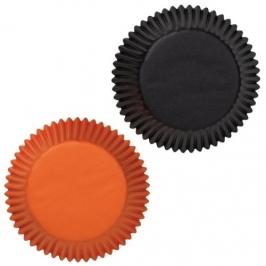 Cápsulas para cupcakes naranjas y negras Wilton