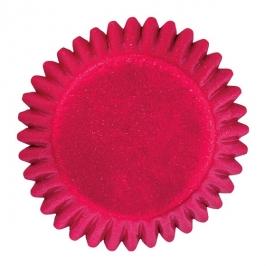 Cápsulas para bombones color rojo metalizado