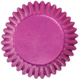 Cápsulas para bombones color rosa metalizado