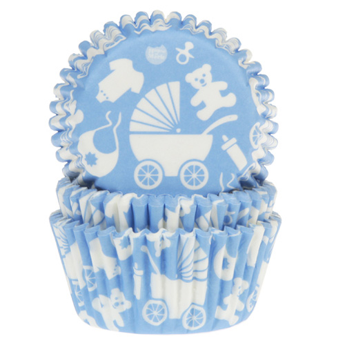 Cápsulas para cupcakes Bebé Azul