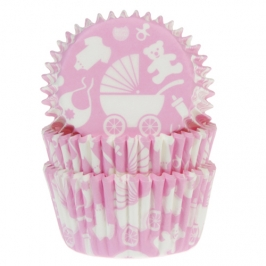 Cápsulas para cupcakes Bebé Rosa