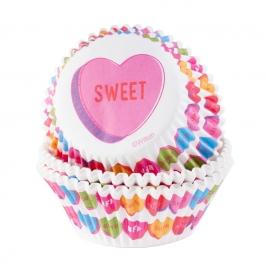 Cápsulas para Cupcakes Corazones