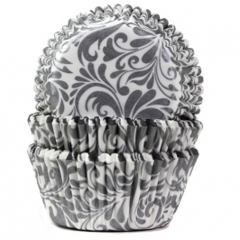 Cápsulas para cupcakes Elegance Silver House of Marie