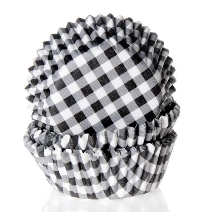 Cápsulas para Cupcakes Gingham Black