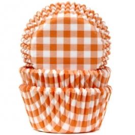 Cápsulas para Cupcakes Gingham Naranja
