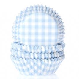 Cápsulas para Cupcakes Gingham pastel Blue