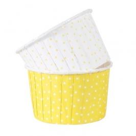 Cápsulas para cupcakes lunares amarillos