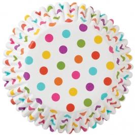 Cápsulas para cupcakes lunares multicolor