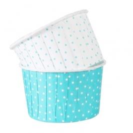Cápsulas para cupcakes lunares turquesas