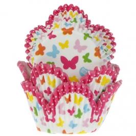 Cápsulas para cupcakes mariposas de colores
