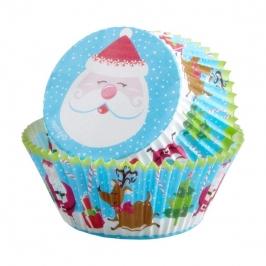 Cápsulas para cupcakes Papá Noel