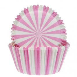 Cápsulas para cupcakes rosas y blancas