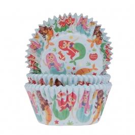 Capsulas para cupcakes sirena