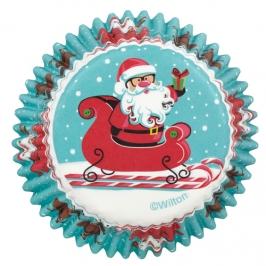 Cápsulas para hornear Santa en trineo