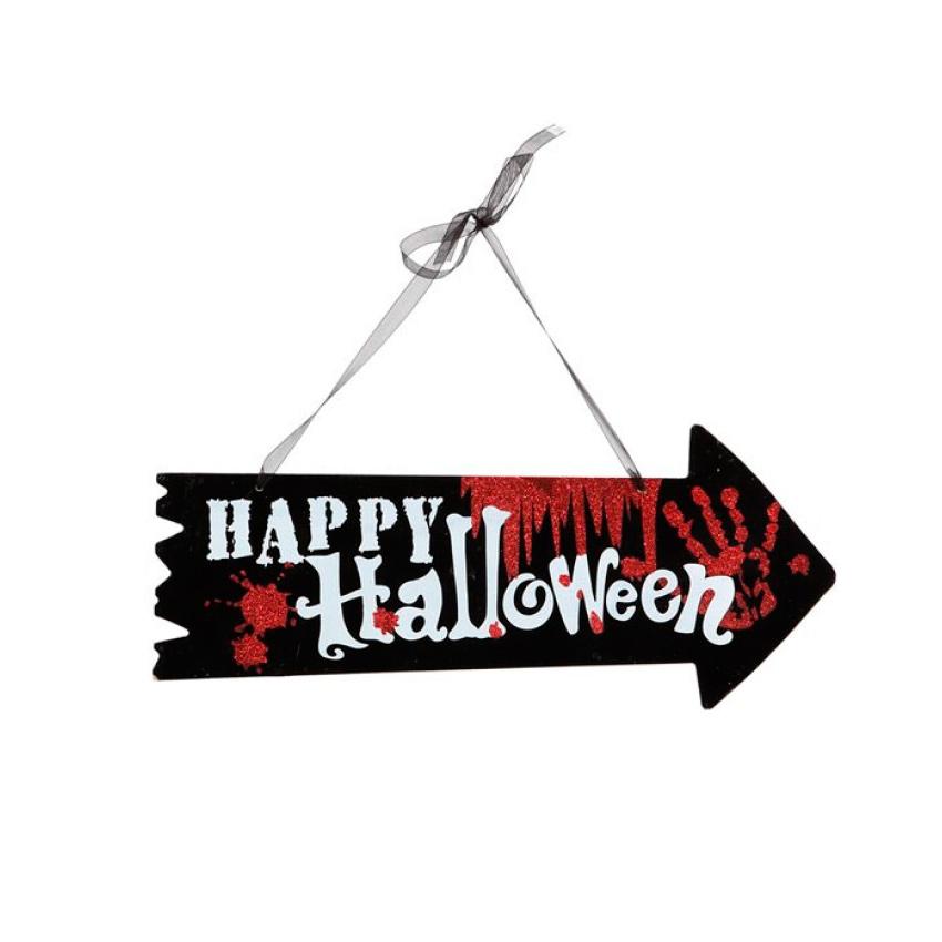 Cartel Flecha Halloween 36 cm Modelo 2