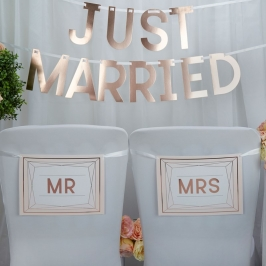 Carteles para Silla Mr & Mrs