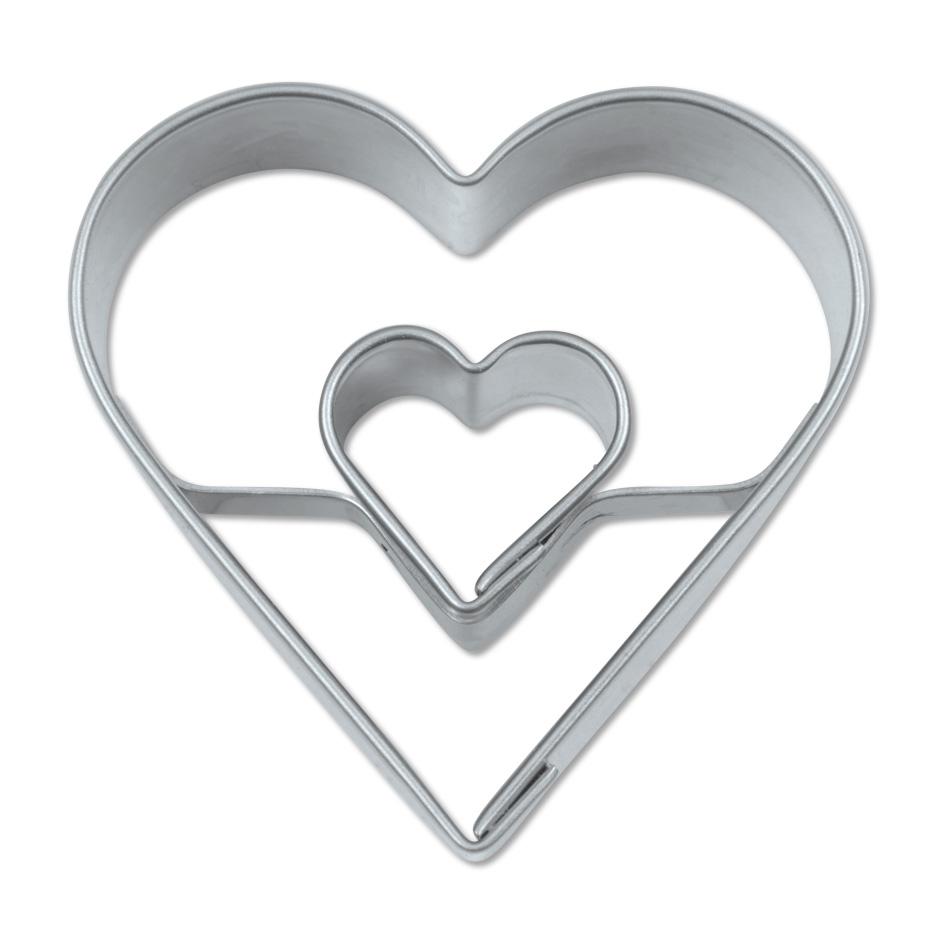 Mini Cortador dos corazones 4 cm