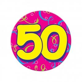 Chapa Gigante de 50 Cumpleaños