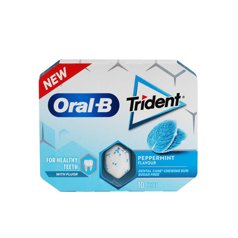 Chicles Trident Oral-B sabor Menta 10 ud