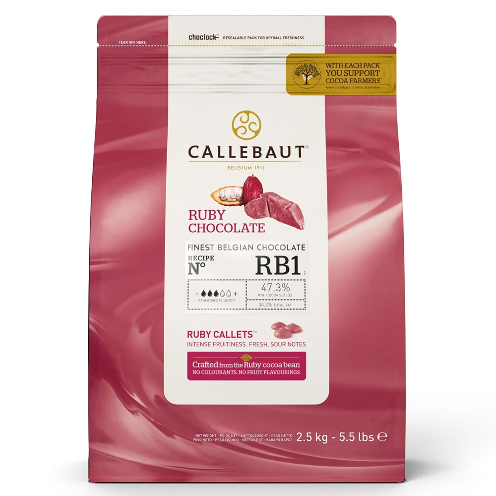 Cobertura de Chocolate Ruby 2,5 Kg - Callebaut