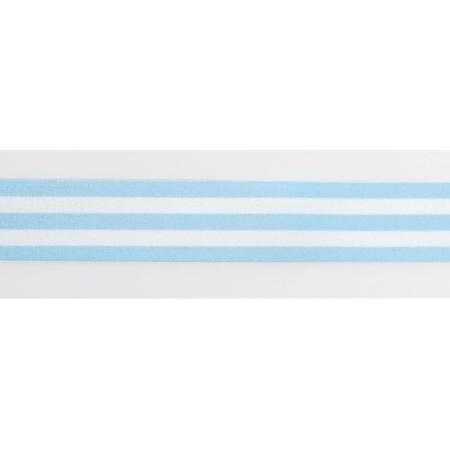 Cinta Satinada Stripes Blue (2 mts)