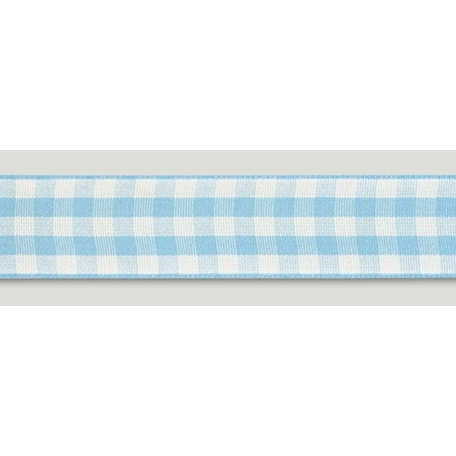 Cinta Satinada Gingham Blue (2 mts)