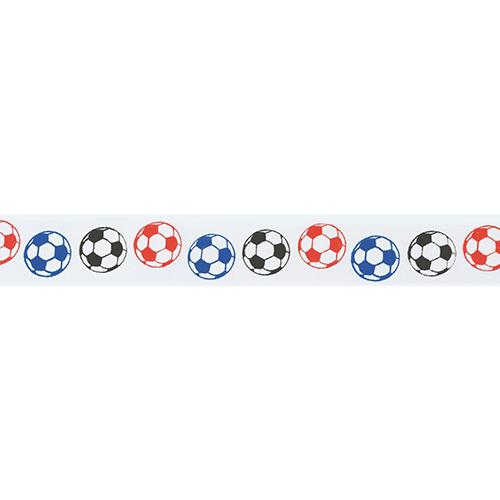 Cinta Satinada Balones de Fútbol de Colores 24mm (2 mts)  473c0266f87c7