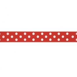 Cinta satinada Polka dot Red (2 mts)