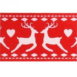 Cinta Satinada Reindeer Red (2 mts)