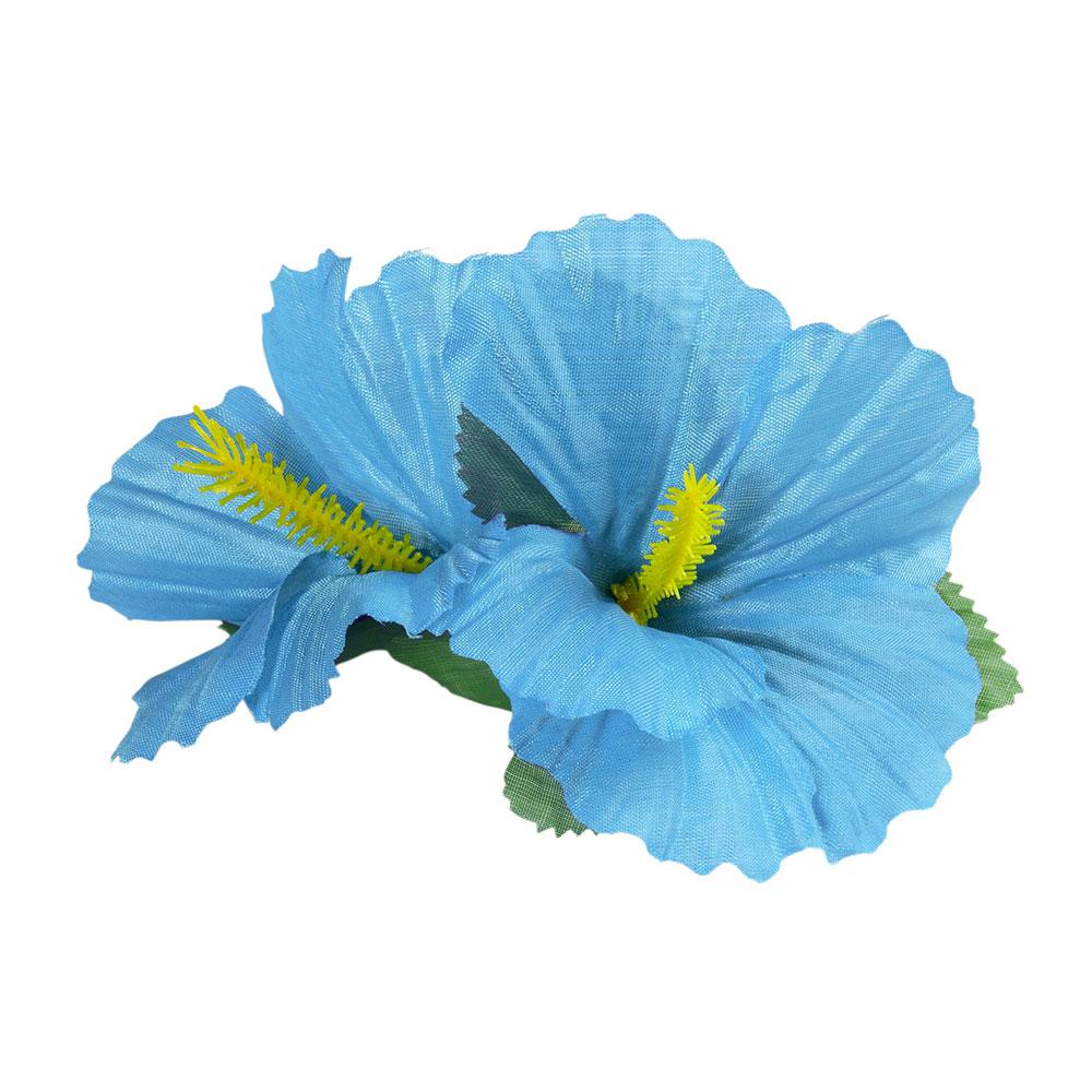Clip para el Pelo Hawaiano Hibiscus Azul Claro