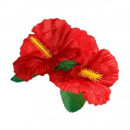 Clip para el Pelo Hawaiano Hibiscus Rojo