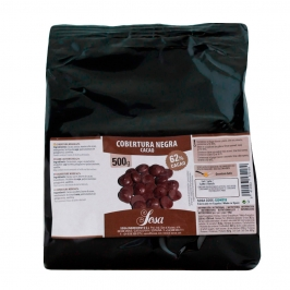 Cobertura de chocolate negro 62% Home Chef 500gr