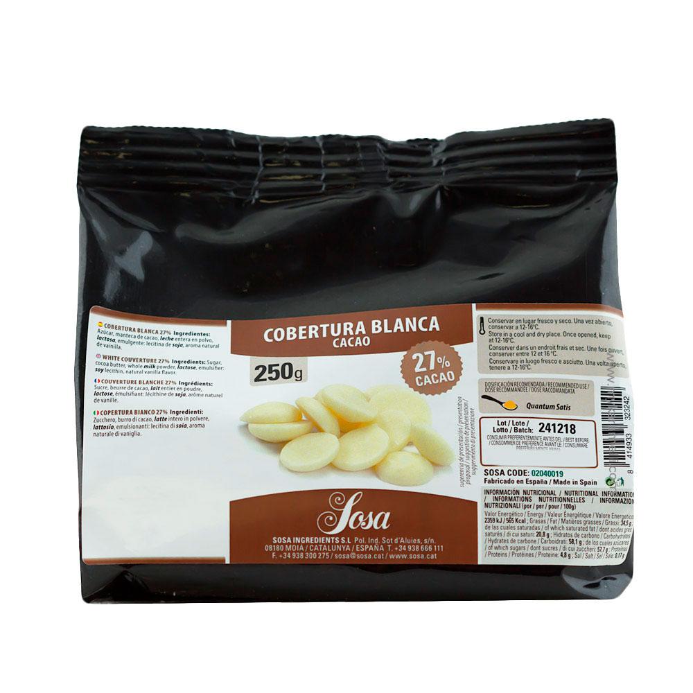 Cobertura Gourmet de Chocolate blanco Home Chef 250gr