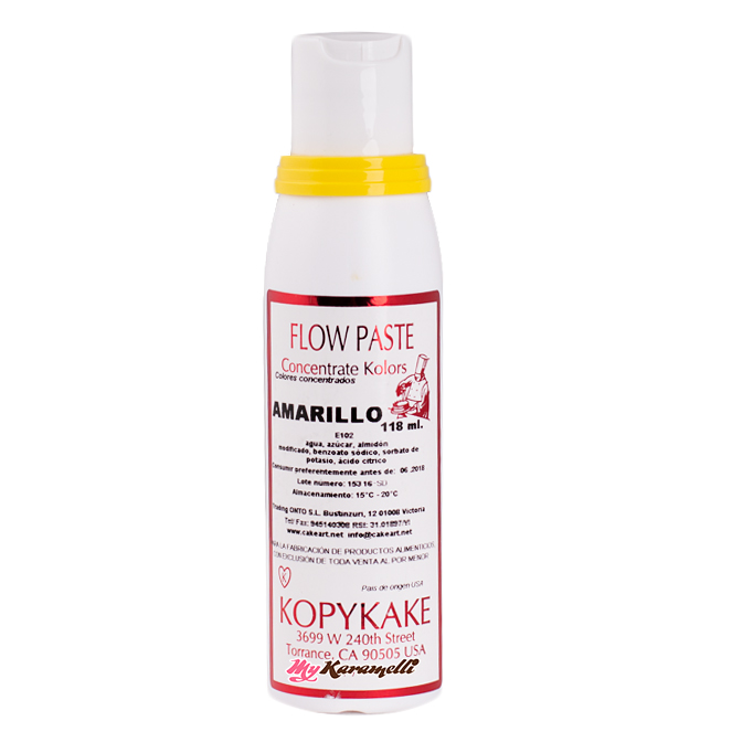 Colorante en pasta Amarillo Kopykake 118 ml - My Karamelli