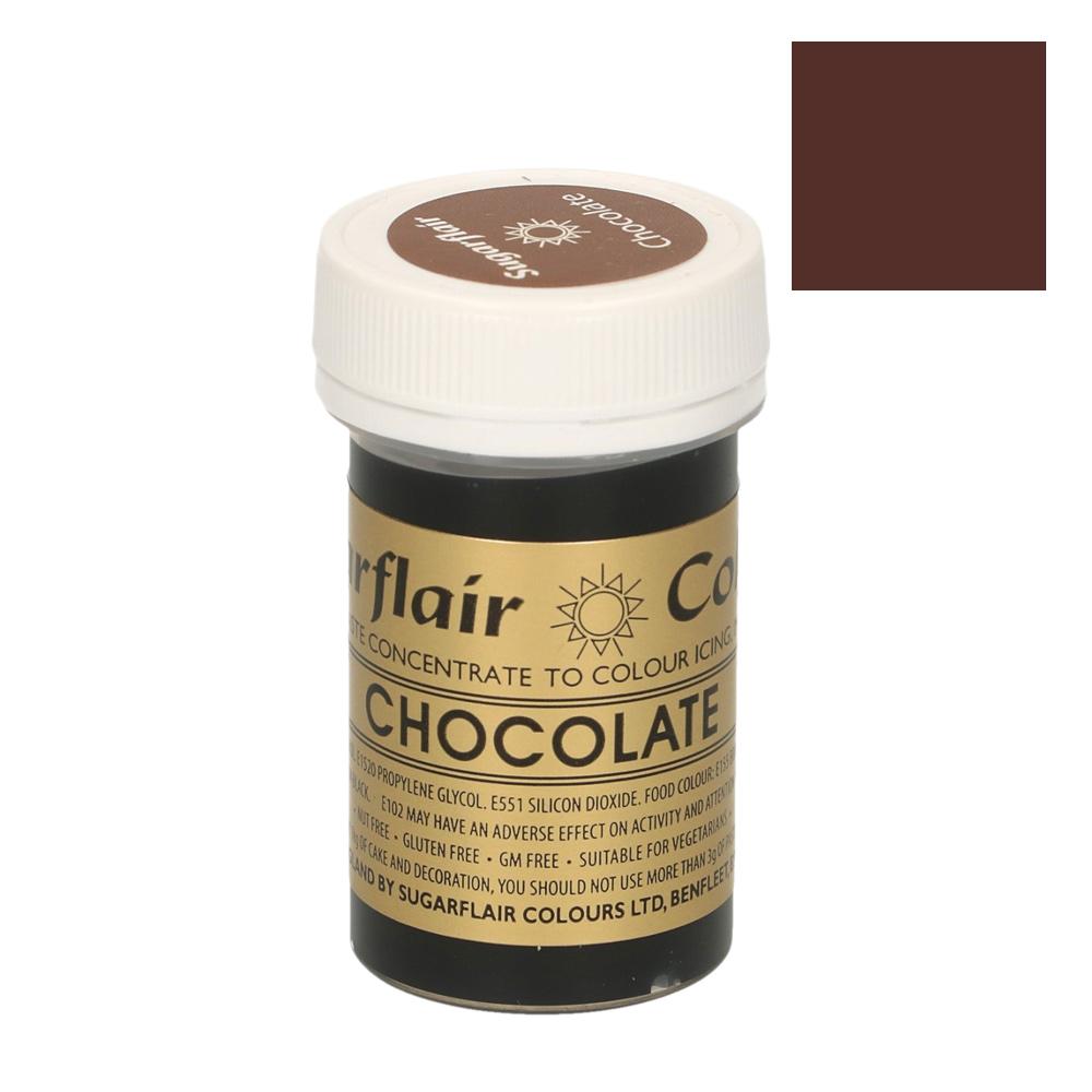Colorante en pasta color Marrón Chocolate Sugarflair