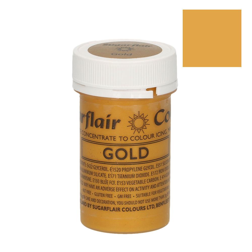 Colorante en pasta color Oro Sugarflair