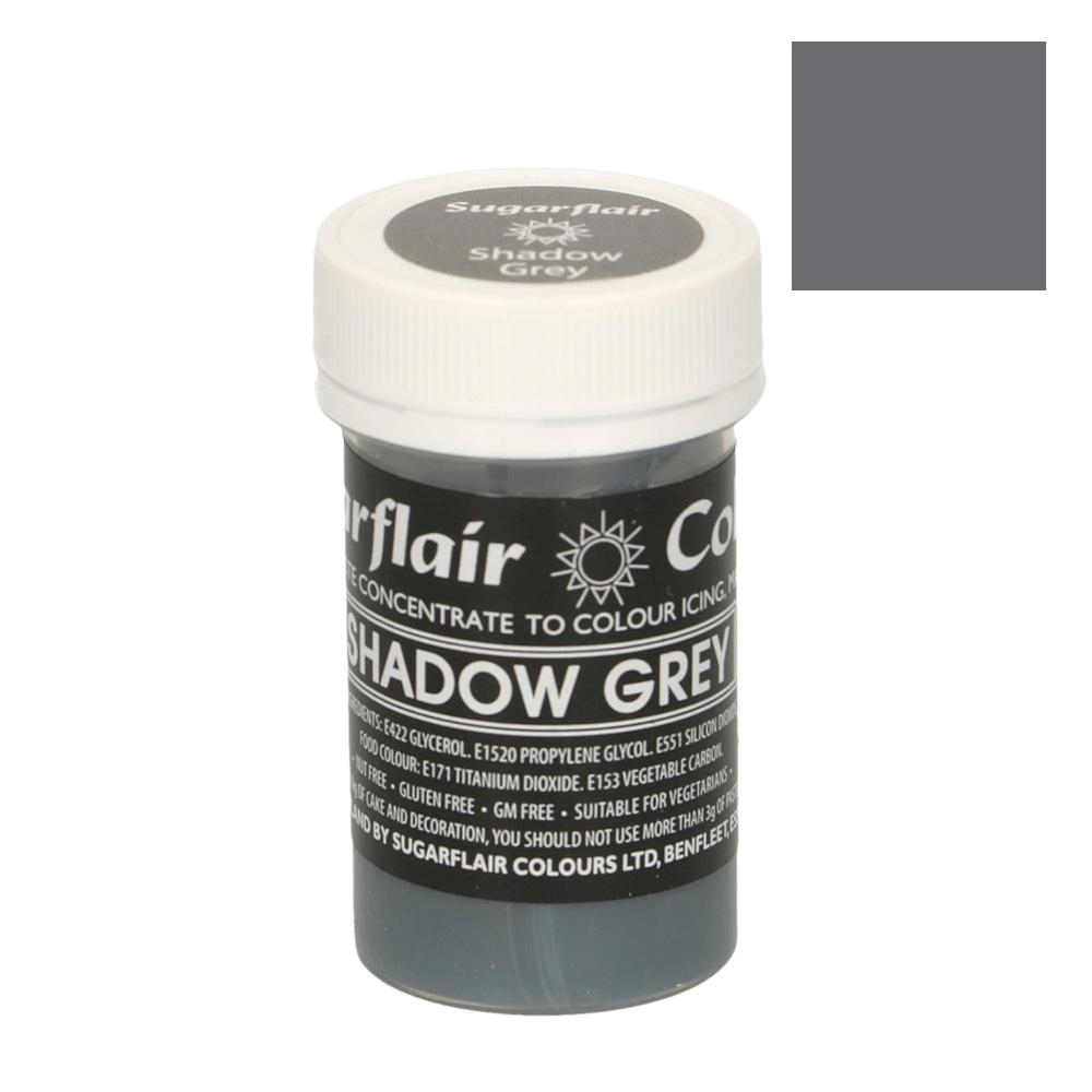 Colorante en Pasta Gris Sombra Pastel 25 gr - Sugarflair