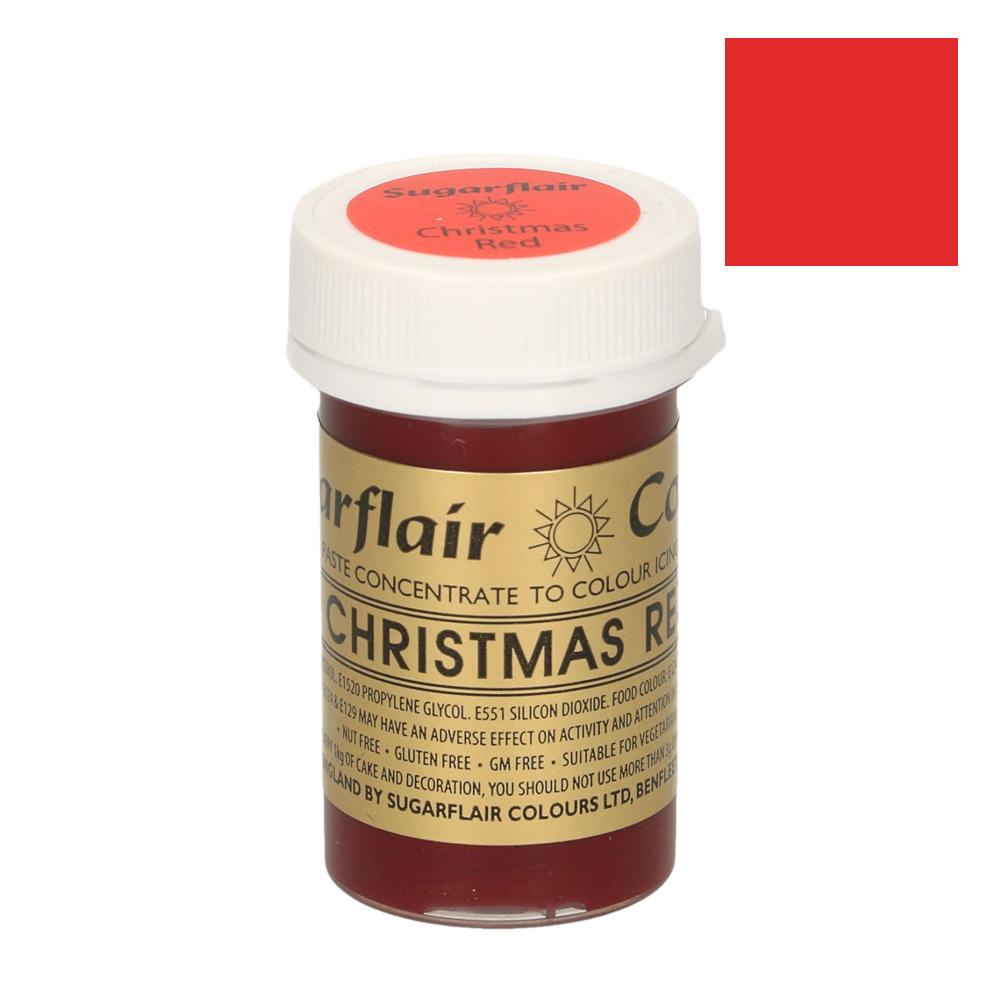 Colorante en pasta Rojo Navidad Sugarflair