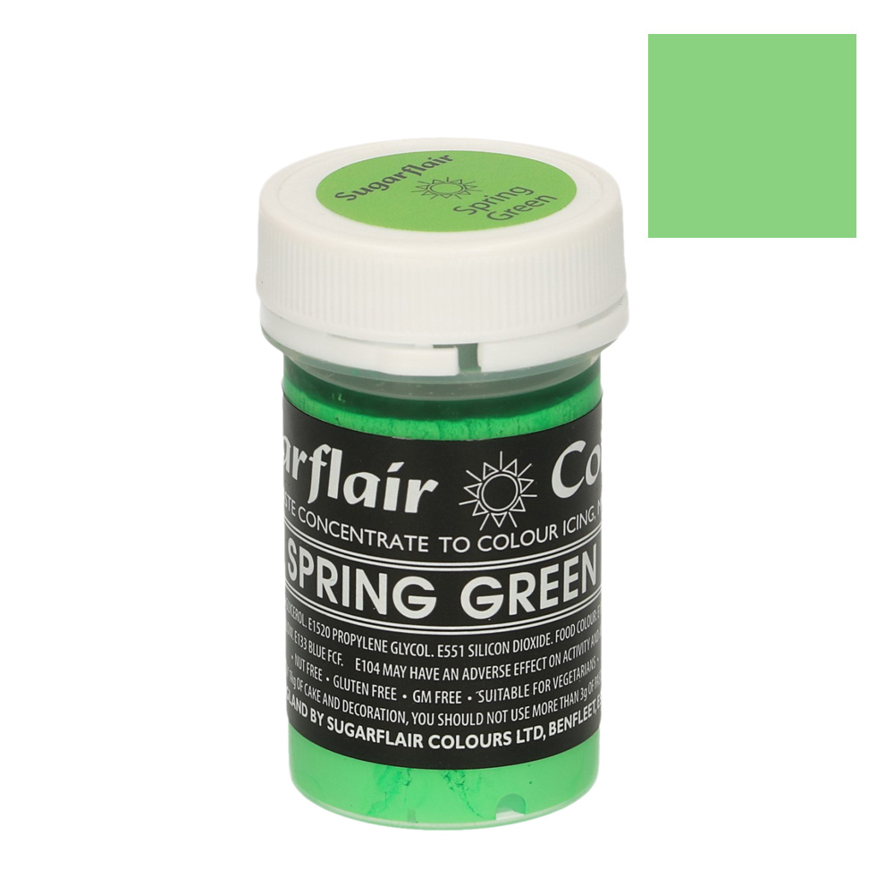 Colorante en Pasta Verde Primavera Pastel Sugarflair