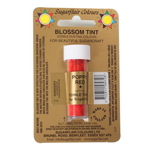 Colorante en polvo Sugarflair Rojo amapola